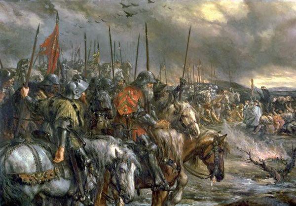 ilustra231227o representando a batalha de azincourt que